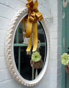 using a bike tire you can secure it between a mirror to create a