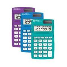 Paquete de 10 calculadoras Eco-calc dual power 8 dígitos memoria indep $712MXN