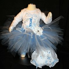 but in purple 1st birthday outfit for girl with snowflake | Birthday Tutu Outfits : 1st Birthday Tutus : Birthday Tutu Clothing