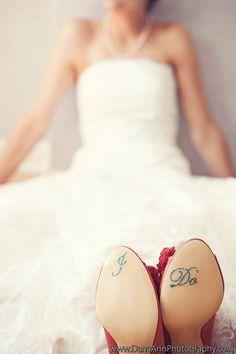 Adesivo para sapato da noiva