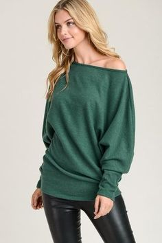 16e658356f0a Get your Christmas Party outfit ready in this warm and super soft Hunter  Green Knit sweater