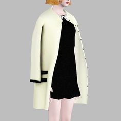 {Collaboration with art-sims~!}[Lonelyboy] TS3 Lady GaGa Shoulder Cardigan…