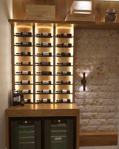 Wine Bar Design, Cl Design, Wine Cellar Design, Home Wine Bar, Home Wine Cellars, Wine House, Home Bar Rooms, Home Bar Decor, Wine Bottle Wall