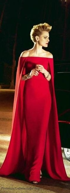 Red elegance | LBV ♥✤ Love this. I could so rock this dress if only I had somewhere to wear it!
