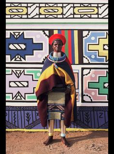 South African Ndebele Tribal Woman