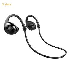Bluetooth Headphones Fuleadture Wireless V4.0 In-Ear Earbuds Sweatproof Stereo Sports Headset with Mic for iPhone 7 Samsung Galaxy S7 and Other Smartphones  Black