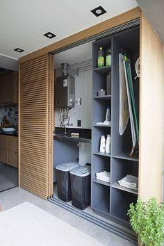Development MaxHaus Paulista Price of Occasion Mak Living Room Designs, Living Room Decor, Laundry Room Design, Room Interior Design, Closet Bedroom, Küchen Design, Cabinet Design, New Homes, House