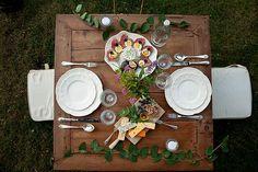 decoración cenas al aire libre