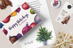 Licorice Christmas Watercolor Kit by PixelBuddha on Creative Market