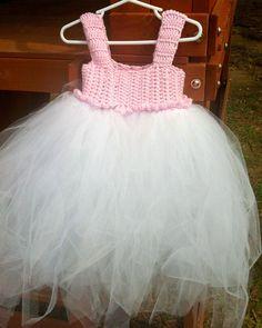 Crochet Tutu Dress  Toddler/Baby by WalkerCrochet on Etsy, $30.00