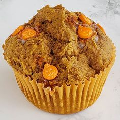 Can't even tell ya how excited I am to share the recipe for these 3-Ingredient Cheater Pumpkin Muffins. Gettin' ready for #pumpkinweek on the blerrgghh Monday!  Topped by the world's cutest punkin candy sprinkles from Pumpkinweek sponsor @shopsweetsandtreats!  #giftedproduct #shockinglydelicious #pumpkinallthethings #pumpkinmuffins #fallflavors #pumpkin #pumpkinspicelife #pumpkinspice