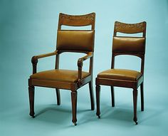 Armchair  Tobey Furniture Company (1875–1954)  Date: ca. 1890 Geography: Midwest, Chicago, Illinois, United States Culture: American Medium: Cherry