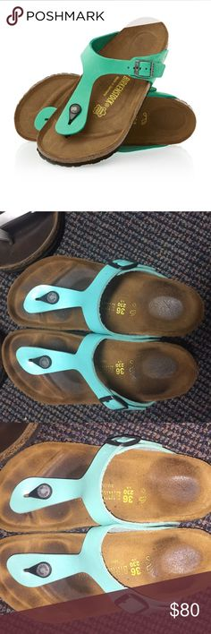 Birkenstock Gizeh Sandals Size 36, only worn a few times as shown by the footbed. No stains or damage since worn so little! Birkenstock Shoes Sandals