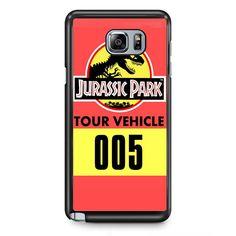 Jurassic Park Tour Vehicle TATUM-5997 Samsung Phonecase Cover Samsung Galaxy Note 2 Note 3 Note 4 Note 5 Note Edge