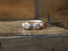 Open Geo Ring w/ Platinum Druzy in 14k Gold Fill by Saressa Designs
