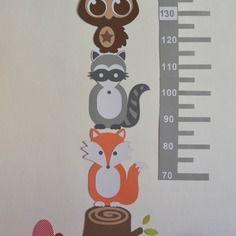Dispo - stickers toise adhésive thème forêt - renard hibou blaireau champignons