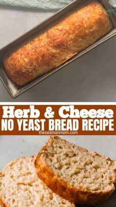 No Yeast Bread, Yeast Bread Recipes, Apple Recipes, Low Carb Recipes, Baking Recipes, Baked Egg Custard, Herb Bread, Dough Recipe, Biscuit Recipe