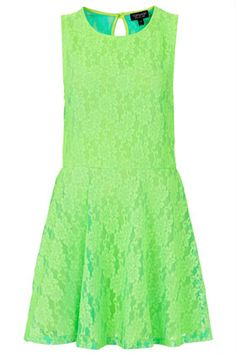 Fluorescent Lace Flippy Tunic  #fashion #hivis #cycling