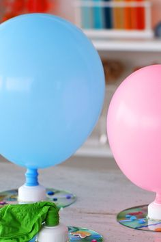 Turn old CDs into flying art with these DIY hovercrafts. Kids can decorate as they desire, then have an adult help attach the balloon mechanism for taking flight.