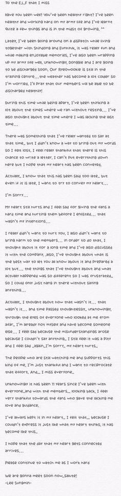161106 Sungmin's 11th anniversary letter ♡ #11yearswithSuperJunior #슈퍼주니어11주년 #SuperJunior11thAnniversary