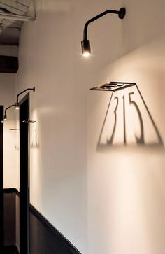 architectural lighting design Interior lighting design, lighting design using shadows, Signage with lighting design inspiration, interior detailing, architecture and desig Hotel Lobby Design, Hotel Design Architecture, Light Architecture, Contemporary Architecture, Design Entrée, House Design, Design Ideas, Cafe Shop Design, Lamp Design