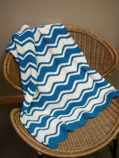 Ravelry: Ripple Baby Blanket free pattern by Judy Hice