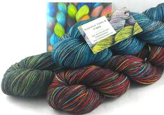 Skeins of hand dyed Kinfolk yarn ready to ship to a new home!