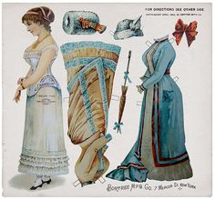 1886 paper doll-  How awesome are these?!