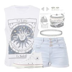 """""""//SmashIntoYou//"""" by alex-bows ❤ liked on Polyvore featuring Converse and Domo Beads"""