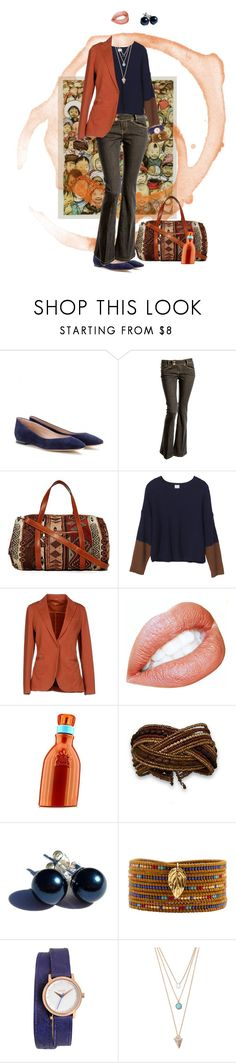 """Earth tones"" by castellado ❤ liked on Polyvore featuring CC, Chloé, Crafted, Street Level, Monki, Circolo 1901, Giorgio Beverly Hills, Chan Luu, Nixon and With Love From CA"