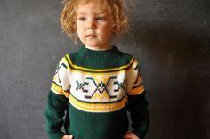retro kids hockey sweater, via Etsy