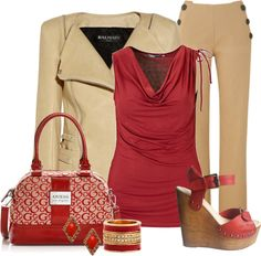 """""""Red Guess Bag"""" by sherri40 ❤ liked on Polyvore"""