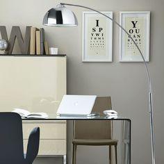 Wohnideen  Arbeitszimmer Home Office Büro - Schicker grauer Büro zu Hause