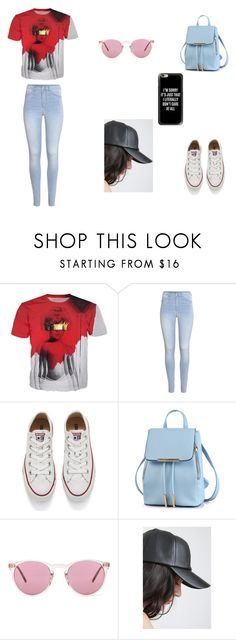 """""""Rihanna Outfit"""" by jazmine-1222 on Polyvore featuring H&M, Converse, Oliver Peoples and Casetify"""
