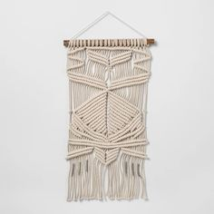 Let your decor reflect your unique boho-chic style with the Woven Cotton Macrame Wall Tapestry from Opalhouse. Woven from cotton macrame and complete with. Ceiling Tapestry, Hanging Tapestry, Wall Tapestry, Boho Chic, Style Boho, Halloween Ceiling, Bohemian Wall Decor, Artisanal, Home Interior