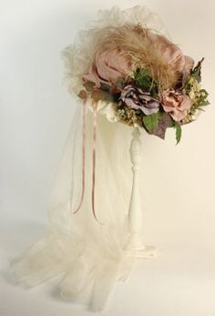 antiqued pastel teaparty hat