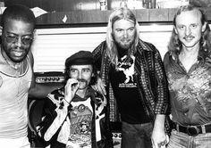 Jai Johanny 'Jaimoe' Johanson, Dickey Betts, Gregg Allman and Butch Trucks of the Allman Brothers Band.