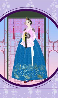 Queen Inhyeon By Jang ok jung Korean Traditional, Traditional Clothes, Jang Ok Jung, Anime Korea, Korean Hanbok, South Korea, Chibi, Aurora Sleeping Beauty, Asian