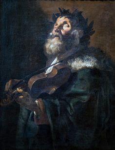 """Mattia Preti, """" Omero """", (1635)"""