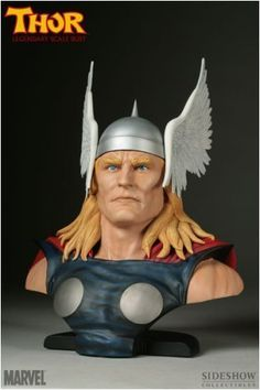 MARVEL Polystone Collectibles: Thor Legendary Scale Bust by Sideshow Collectibles! by Sideshow Collectibles. $229.95. Sideshow Collectibles and Marvel Comics are proud to present Thor, the latest addition to the Marvel Legendary Scale Bust series. Straight from the pages of Marvel's vast catalogue of iconic characters, these dynamic busts feature some of the most memorable and beloved characters of all time. Poised with strength and nobility, Thor is captured in a...
