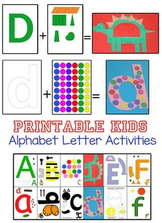 Kids printable alphabet letter activities perfect for toddlers, preschoolers and kindergarten to re-inforce letters and sounds. Wonderful for shapes week! Free Educational Worksheets, Free Printables for Lesson Plans, Alphabet Lesson Ideas