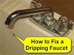 How to Fix a Dripping Faucet and other light plumbing repairs...See his whole YouTube Channel