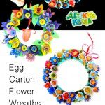 Egg+Carton+Flower+Wreaths