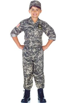 US Army Camo Set Child Costume - Pure Costumes