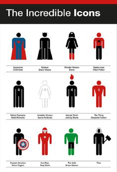 Eurydyka Kata & Rafal Szczawinski of re:design, made a minimalist tribute to our favorite superheroes.