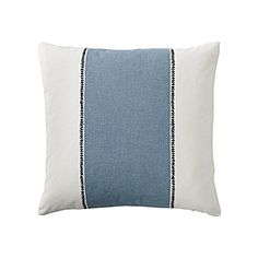 Racing Stripe Pillow Cover – Chambray | Serena & Lily
