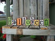 Halloween Blocks!  So cute!