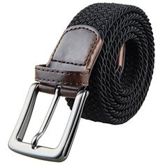 547537296ed Samtree Braided Belts for Men Elastic Fabric Woven Stretch Web Strap Buckle   belts  accessories