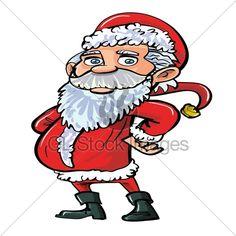 Cartoon Smiling Happy Santa In Red. Isolated On. Christmas Cartoon Pictures, Christmas Cartoons, Cartoon Smile, Cartoon Pics, Tigger, Disney Characters, Fictional Characters, Santa, Happy
