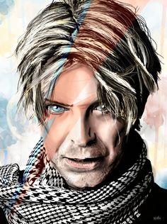 Bowie by on DeviantArt Angela Bowie, David Bowie Tribute, David Bowie Art, Glam Rock, David Bowie Wallpaper, Duncan Jones, The Thin White Duke, Pop Art, Ziggy Stardust